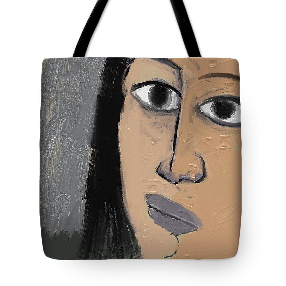 Fine Art Tote Bag featuring the painting Untitled 648 by Nedunseralathan R