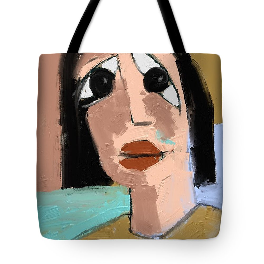 Fine Art Tote Bag featuring the painting Untitled 649 by Nedunseralathan R