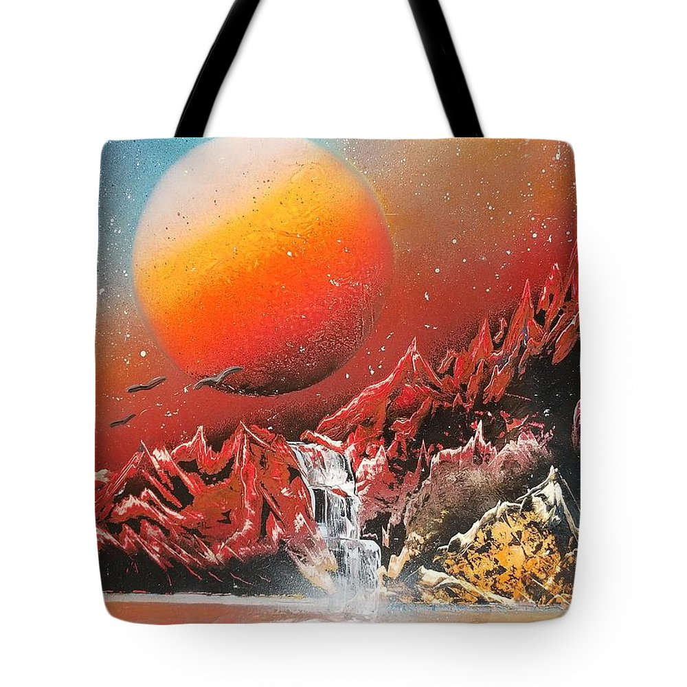 Planet Tote Bag featuring the painting Untitled 7 by Ryan Bennitt