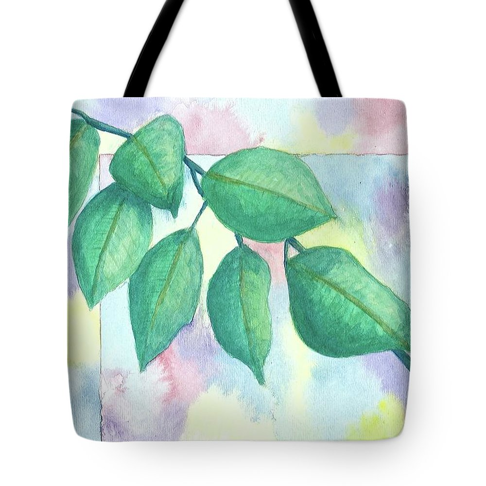 Watercolor Tote Bag featuring the painting Untitled by Billinda Brandli DeVillez