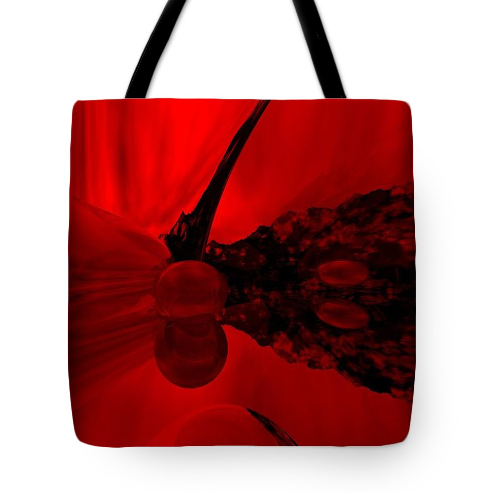 Abstract Tote Bag featuring the digital art Untitled by David Lane