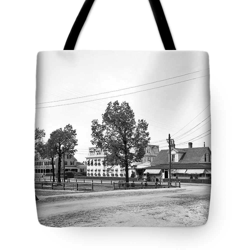 1900s Tote Bag featuring the photograph Wilcox Hotel In Aiken by Detroit Publishing Company