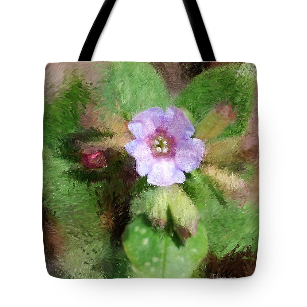 Digital Photo Tote Bag featuring the photograph Untitled Floral -1 by David Lane