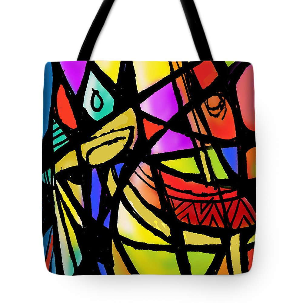 Figurative Tote Bag featuring the digital art Untitled by Gujjarappa Banagere