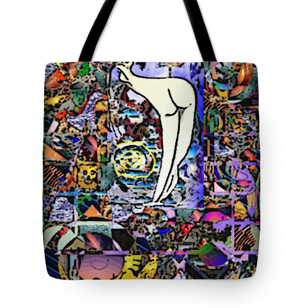 Delara Tote Bag featuring the digital art Untitled by Jorge Delara