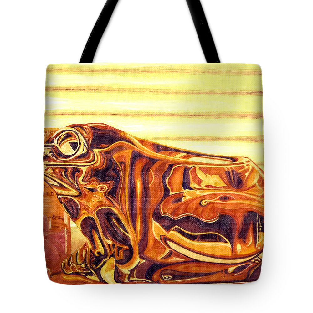 Frog Tote Bag featuring the painting Untitled by Judy Henninger