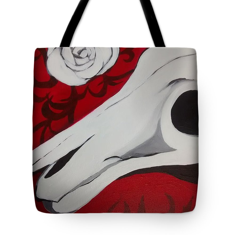 Painting Tote Bag featuring the painting Untitled by Krystiana Sims