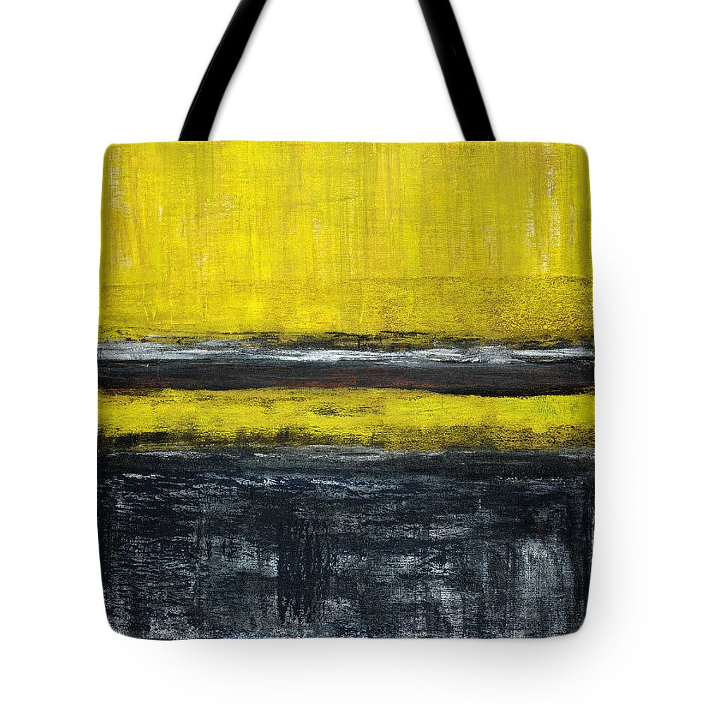 Yellow Tote Bag featuring the painting Untitled No. 11 by Julie Niemela