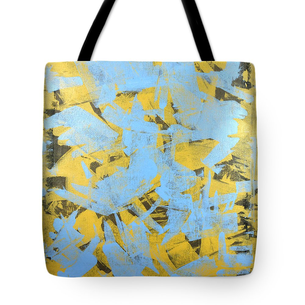 Yellow Tote Bag featuring the painting Untitled No.19 by Julie Niemela