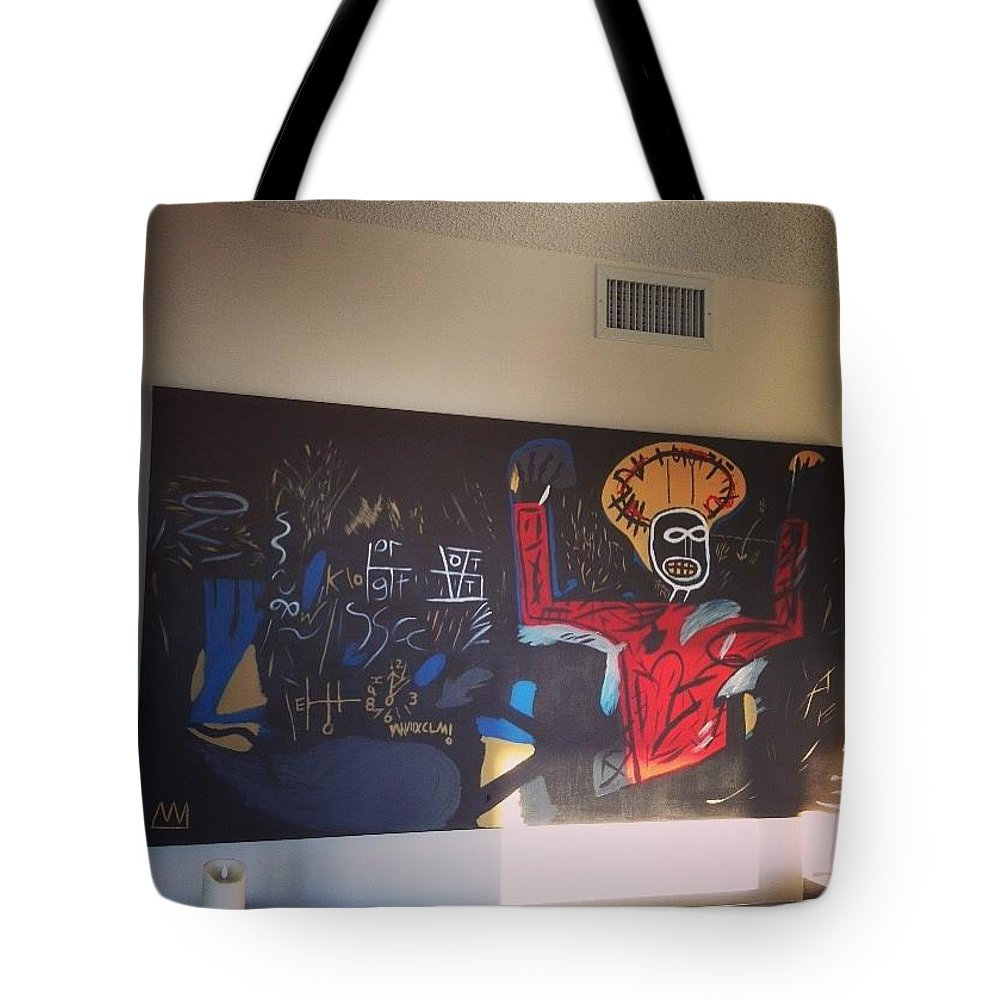 Basquiat Tote Bag featuring the painting Untitled Profit 1 by Harry Sale