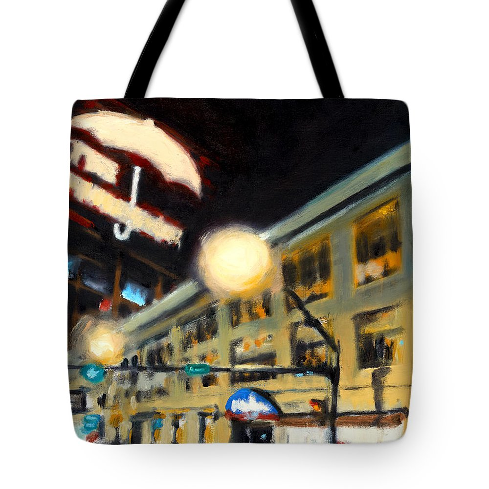 Rob Reeves Tote Bag featuring the painting Untitled by Robert Reeves