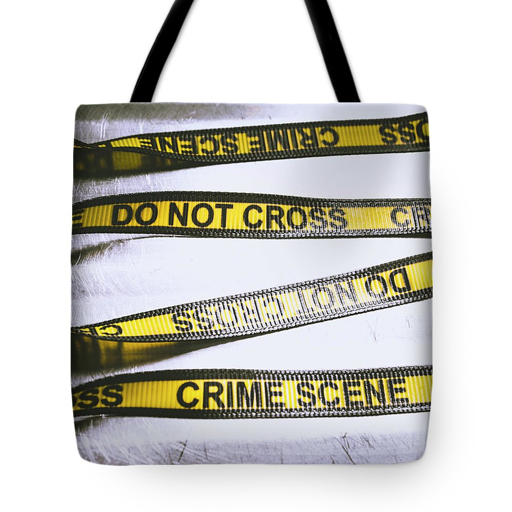 Crime Tote Bag featuring the photograph Unwrapping A Murder Investigation by Jorgo Photography - Wall Art Gallery