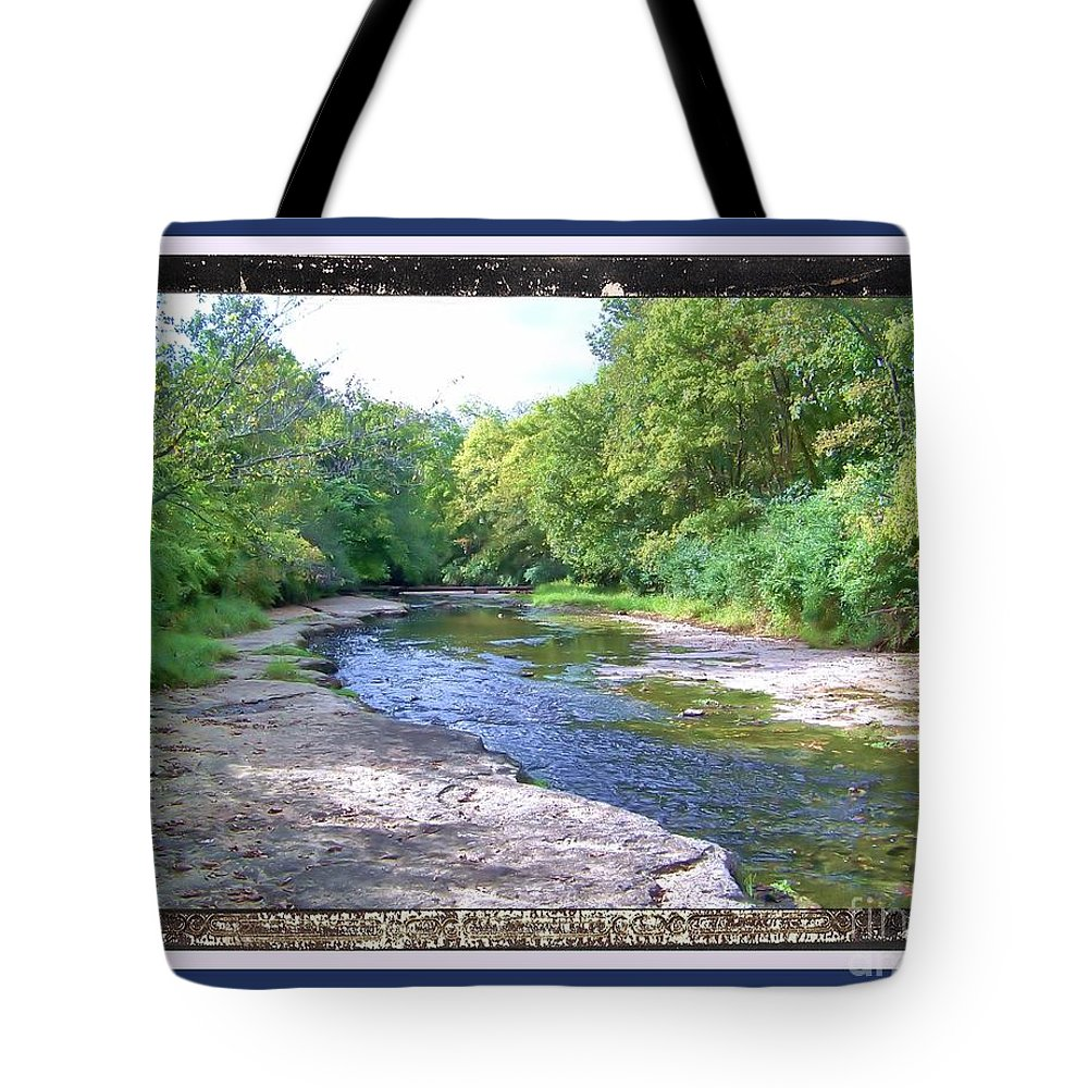 Tote Bag featuring the photograph Up A Creek by Shirley Moravec