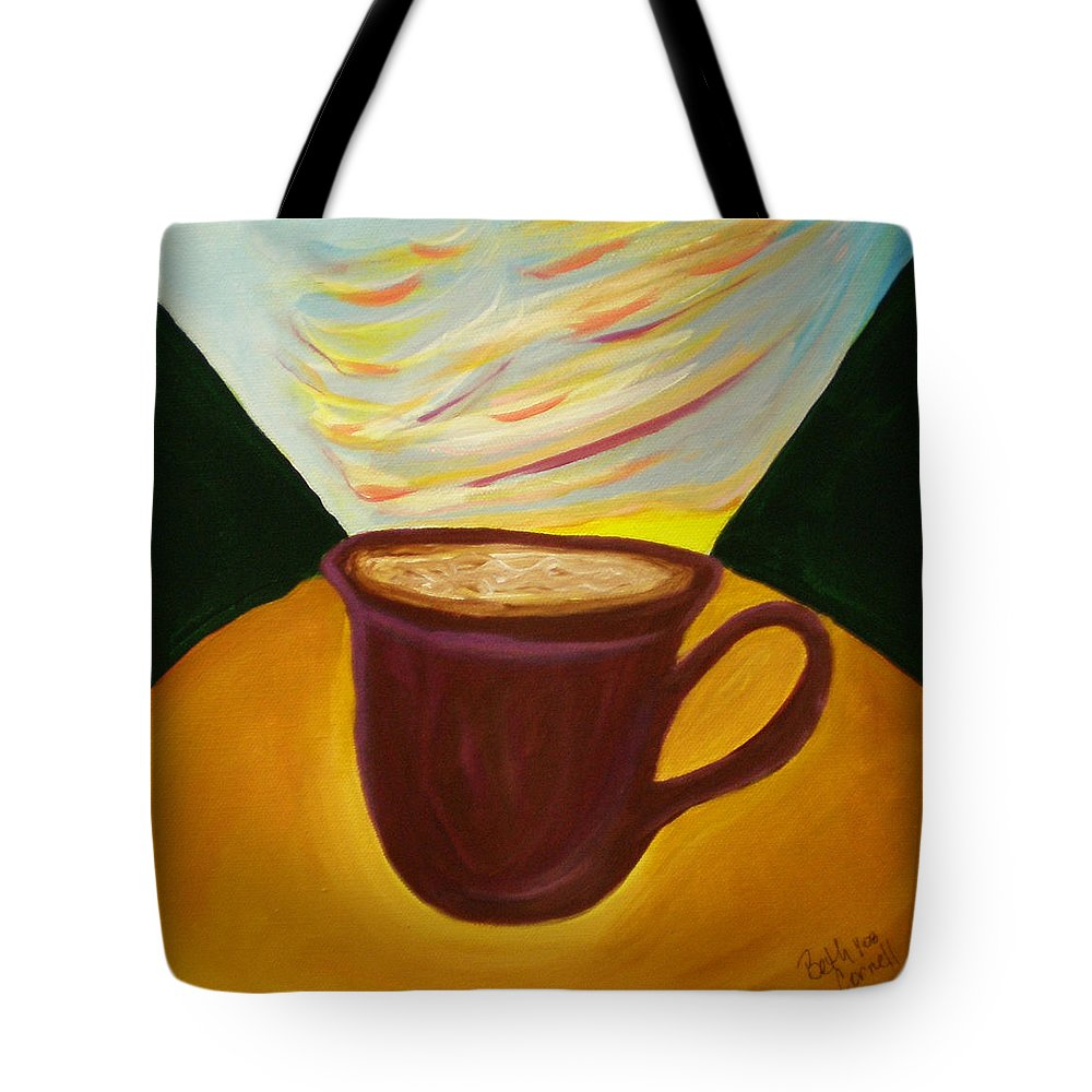 Up All Night Tote Bag featuring the painting Up All Night by Beth Cornell
