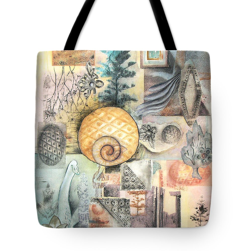 Abstract Tote Bag featuring the mixed media Up And Away by Valerie Meotti
