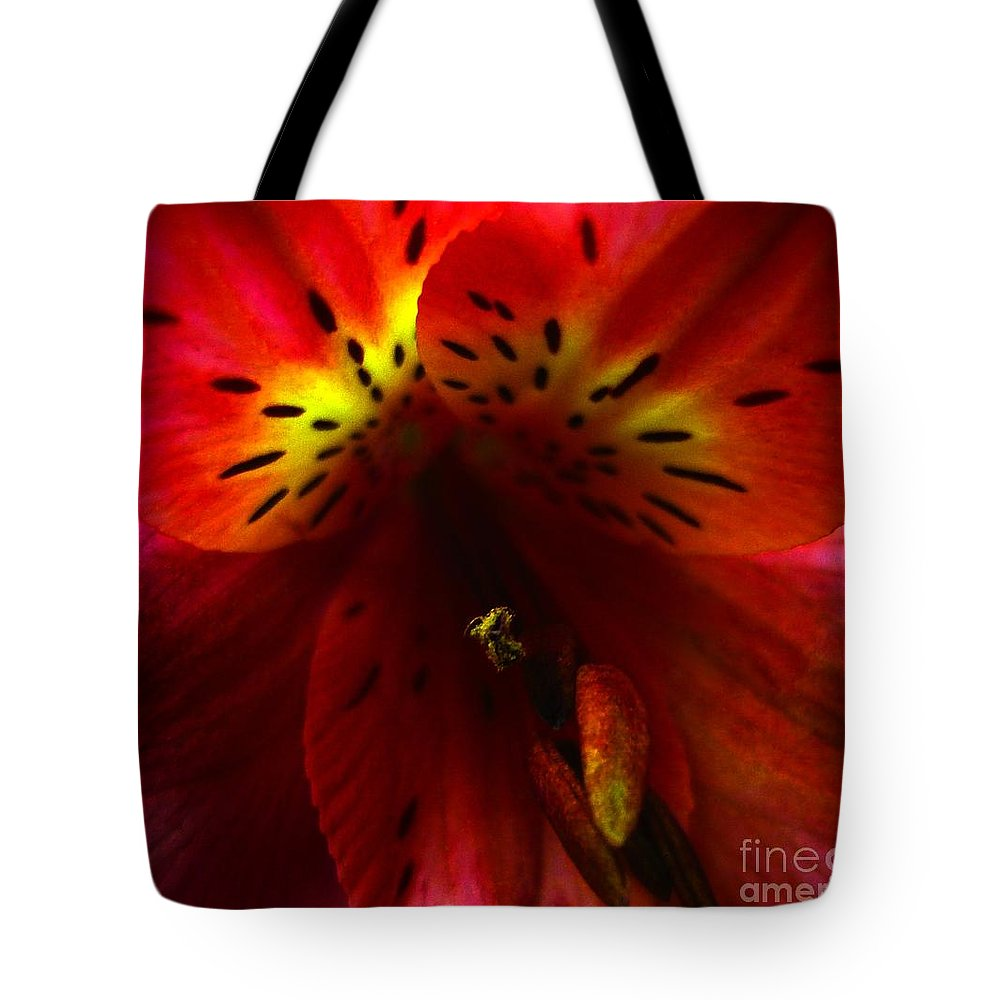 Macro Tote Bag featuring the photograph Up Close by Jeff Breiman