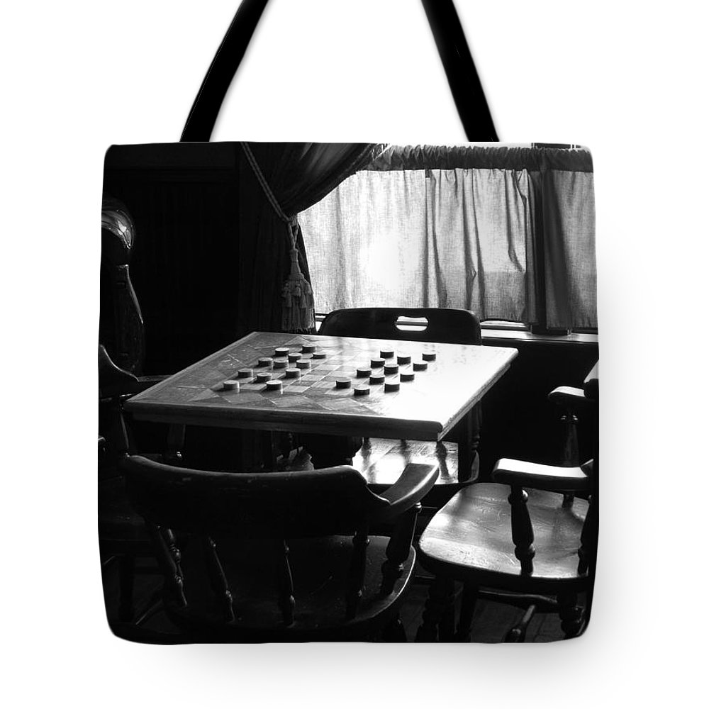 Ann Keisling Tote Bag featuring the photograph Up For A Game? by Ann Keisling