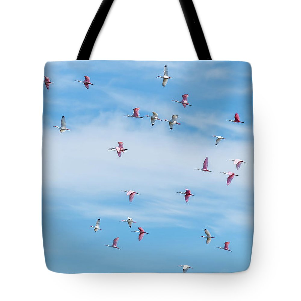 Blue Tote Bag featuring the photograph Up, Up And Away by Vivian Starnes
