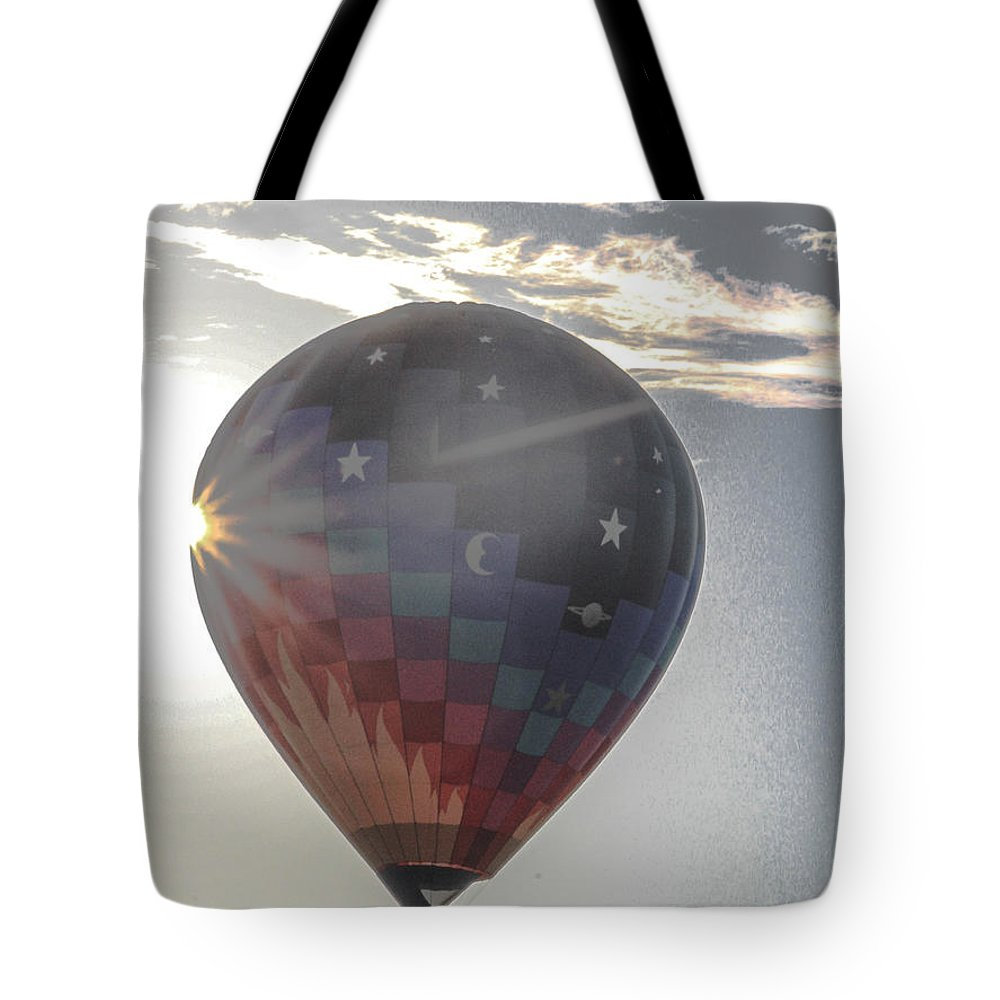 Balloon Tote Bag featuring the photograph Up by Victory Designs