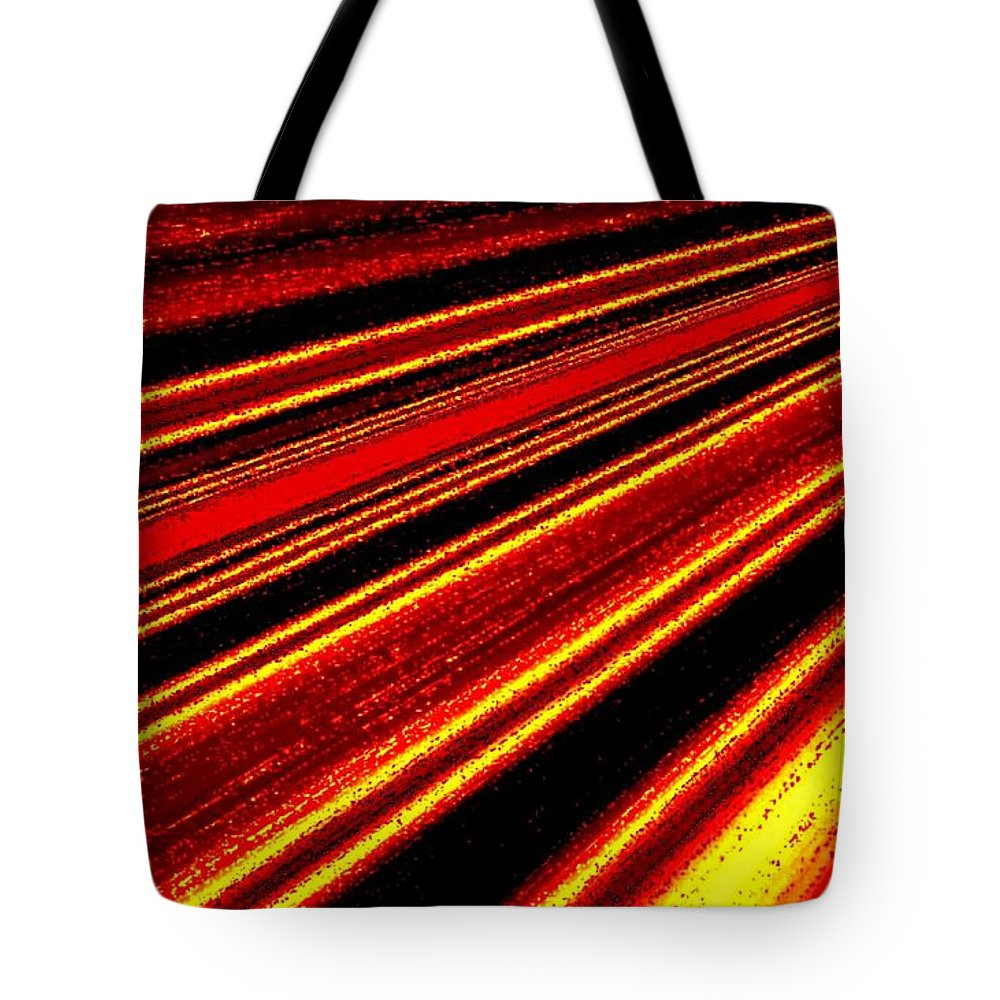 Abstract Tote Bag featuring the digital art Upbeat by Will Borden