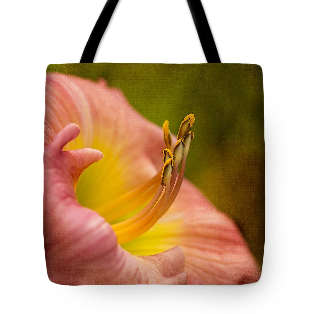 Lily Tote Bag featuring the photograph Uplifting Lily by Mary Jo Allen