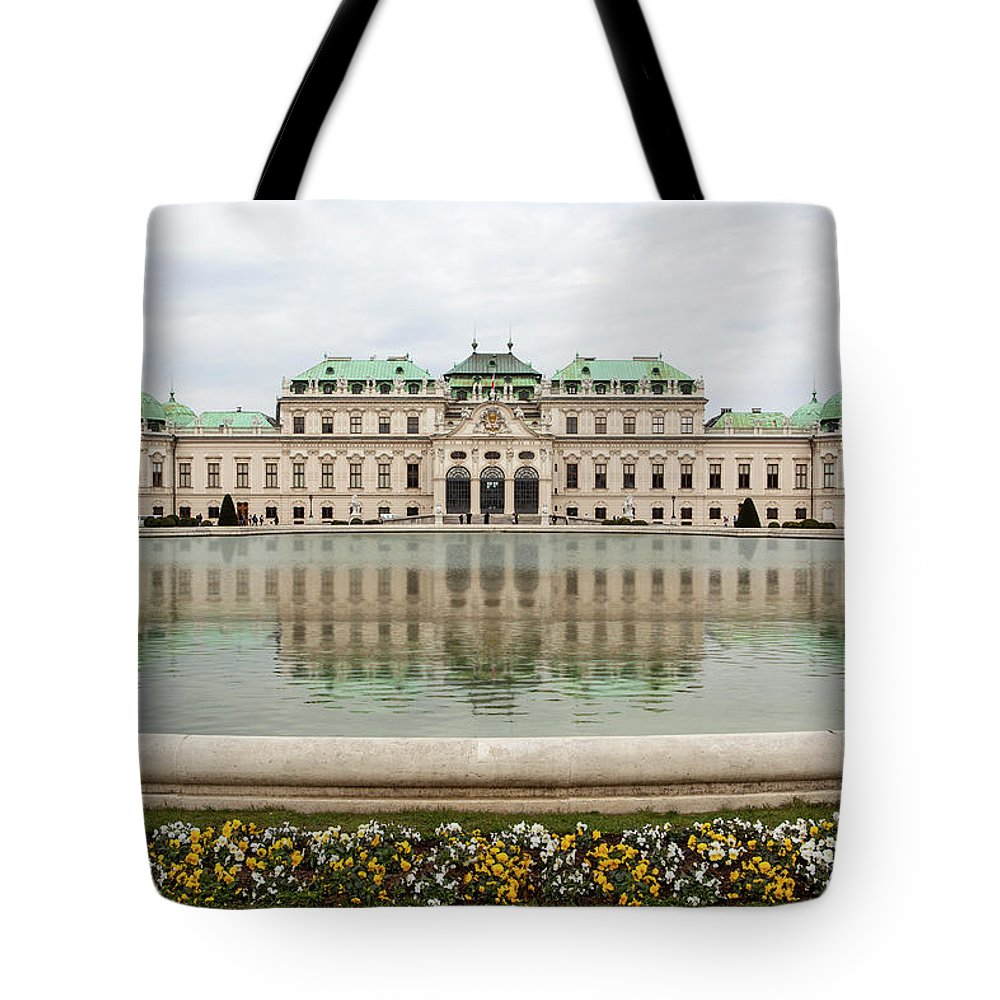 Austria Tote Bag featuring the photograph Upper Belvedere And Its Reflection by Marc Henderson