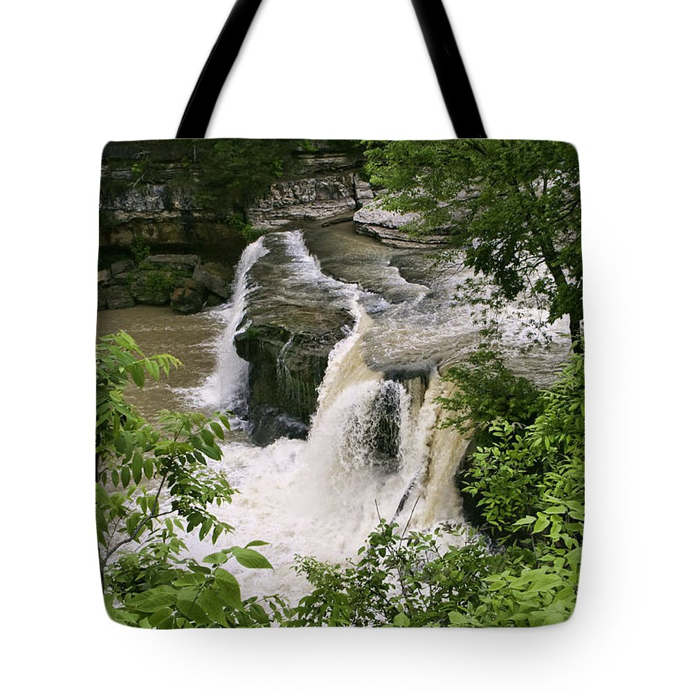 Upper Cataract Falls Tote Bag featuring the photograph Upper Cataract Falls by Phyllis Taylor