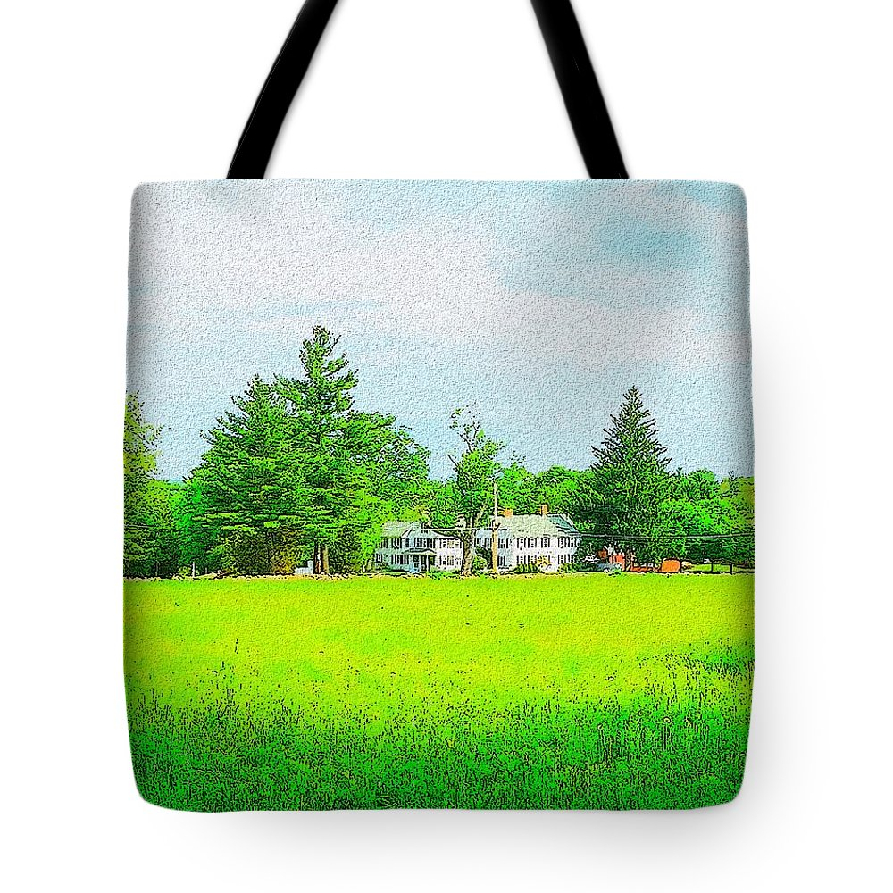 Warren Woods Tote Bag featuring the painting Upper Chestnut Street Field by Cliff Wilson