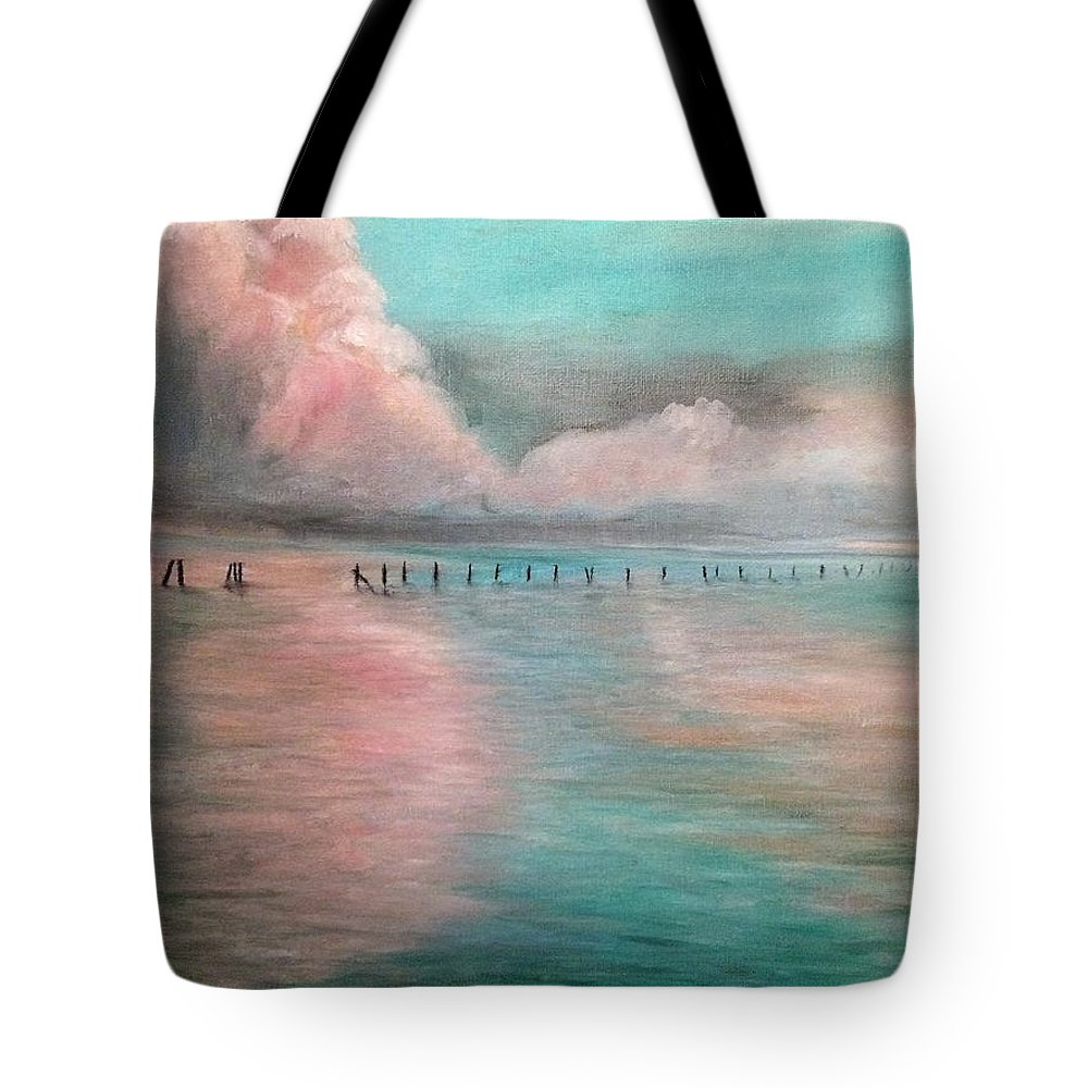 Lakeside Tote Bag featuring the painting Upper Cove by Jennifer Thomas