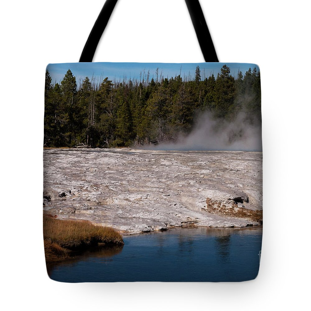 Upper Geyser Basin Tote Bag featuring the photograph Upper Geyser Basin by Bob Phillips