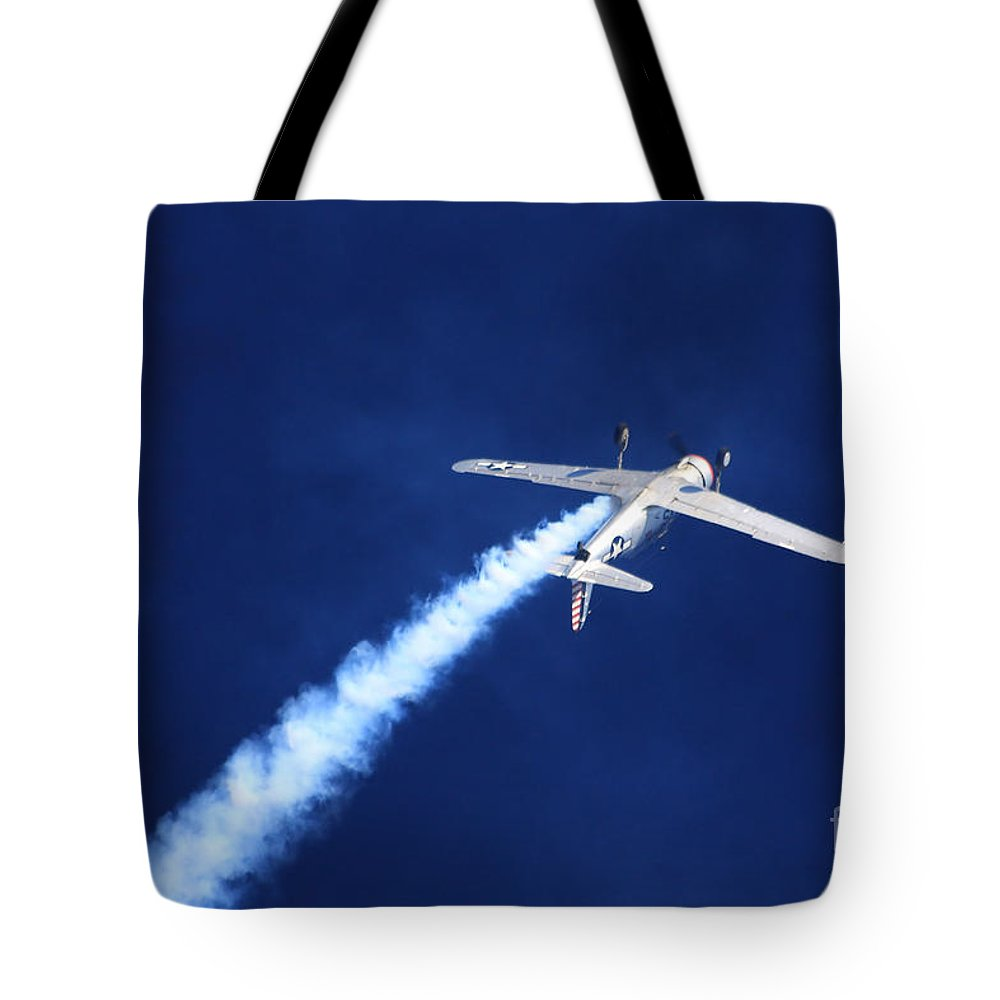 Aircraft Tote Bag featuring the photograph Upside Down by Karol Livote