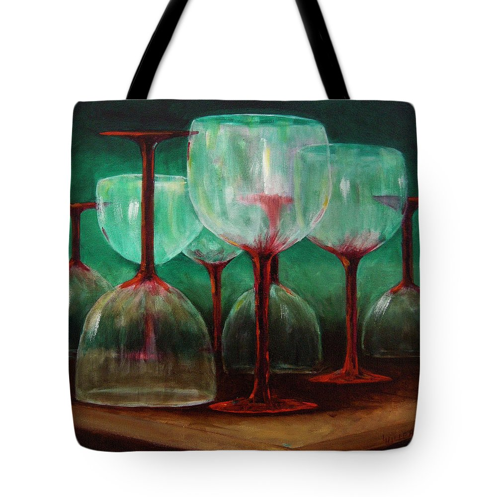 Oil Tote Bag featuring the painting Upsidedown by Linda Hiller