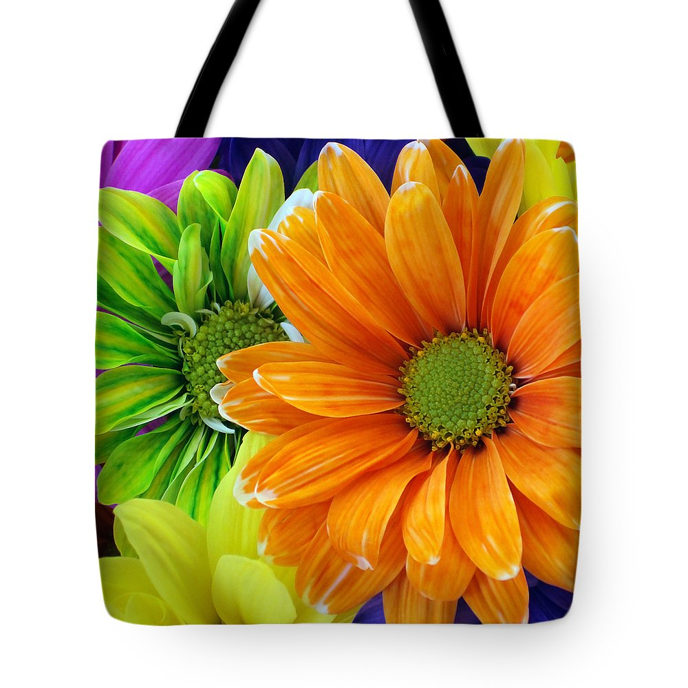 Orange Tote Bag featuring the photograph Upstaged By Orange by Angelina Vick