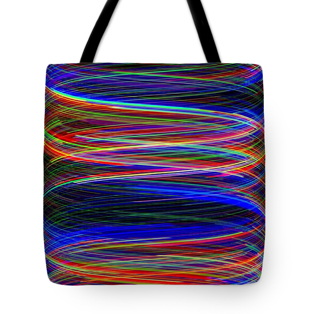 Abstract Tote Bag featuring the digital art Upwardly Mobile by Will Borden
