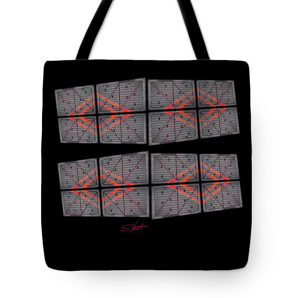 Black Tote Bag featuring the photograph Urban Break-up by Charles Stuart
