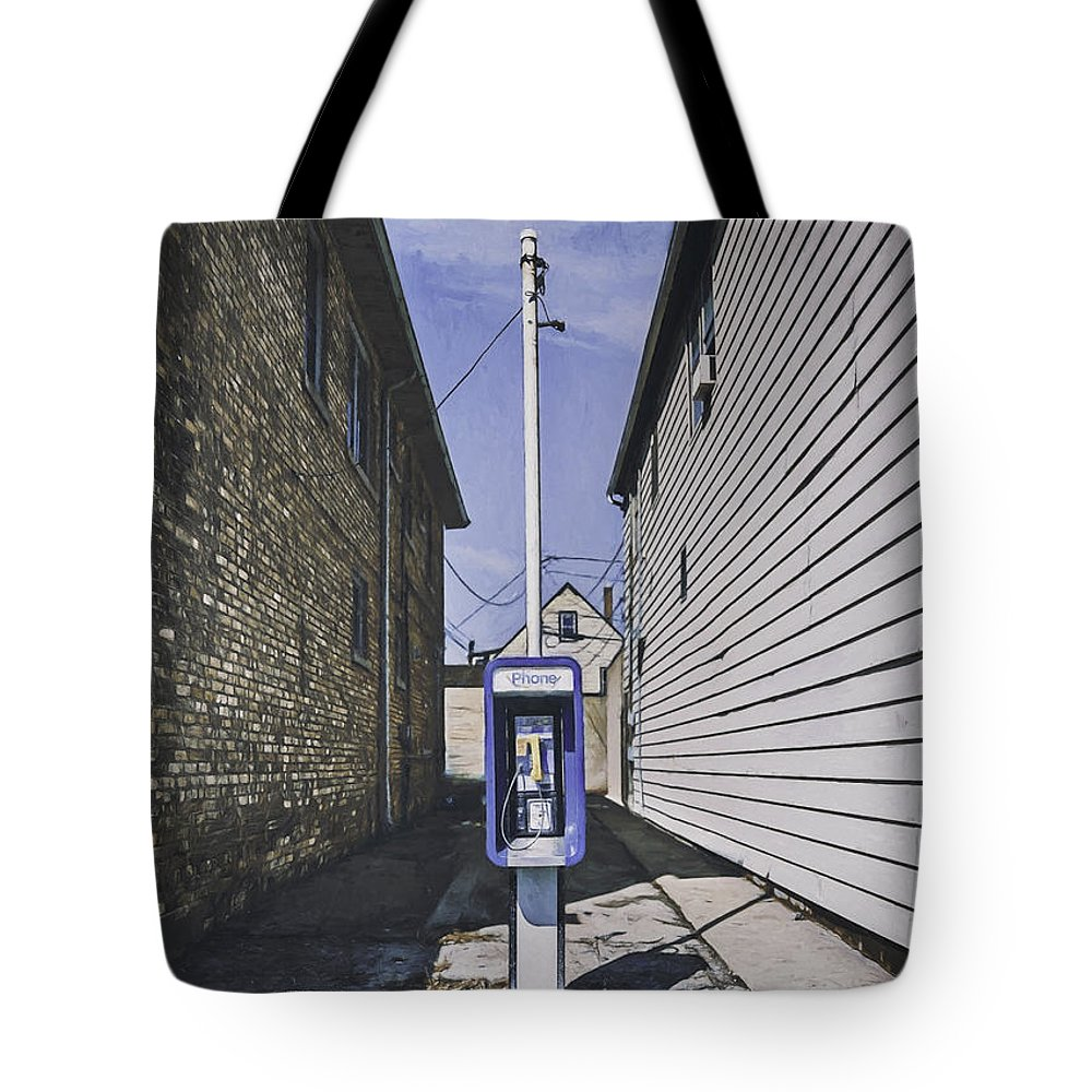 Pay Phone Tote Bag featuring the photograph Urban Dinosaur by Scott Norris