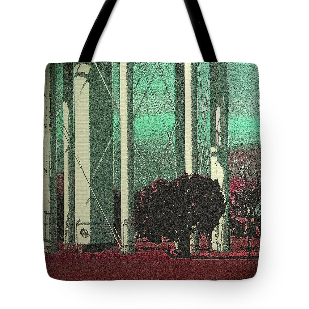 Abstract Tote Bag featuring the digital art Urban Landscape by Lenore Senior