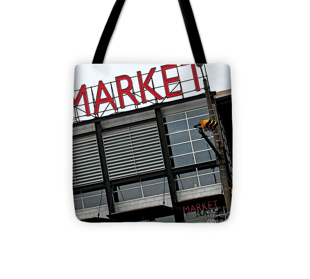 Modern Tote Bag featuring the photograph Urban Market by Gary Everson