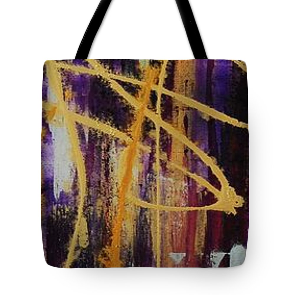 Abstract Tote Bag featuring the painting Urban Royality by Lauren Luna