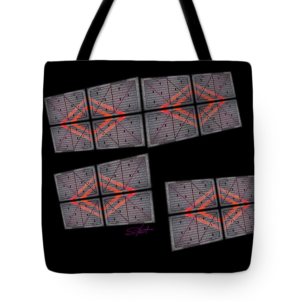 Black Tote Bag featuring the photograph Urban Space by Charles Stuart