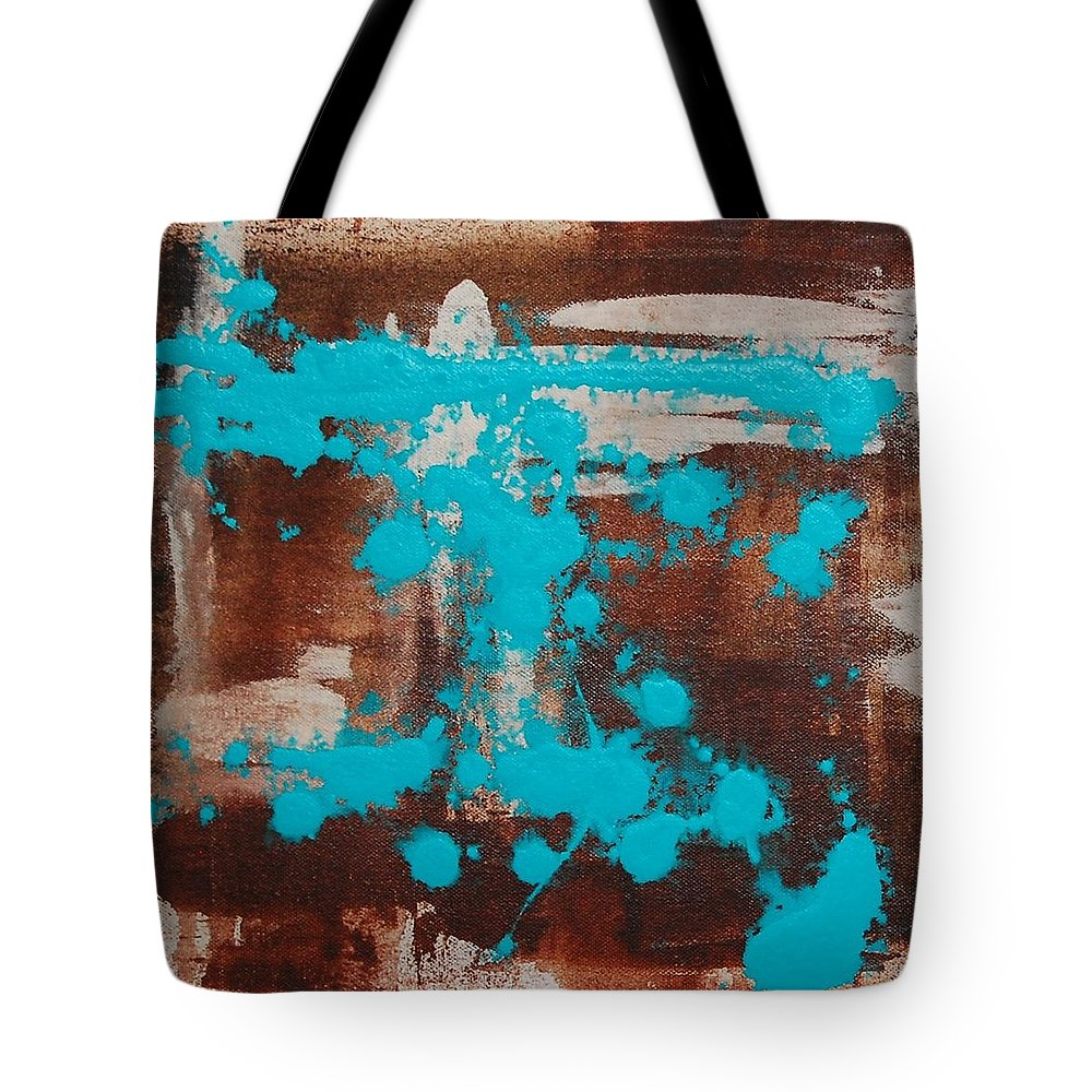 Diptech Tote Bag featuring the painting Urbanesque I by Lauren Luna