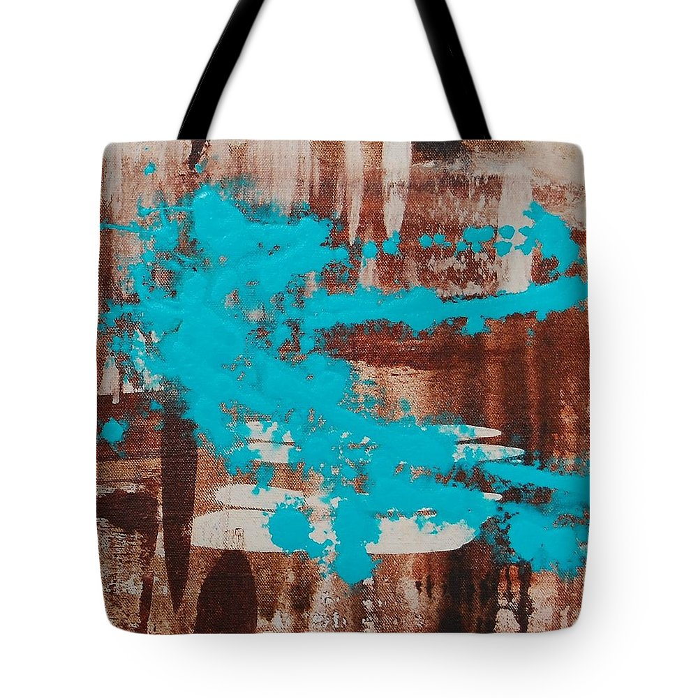 Urban Tote Bag featuring the painting Urbanesque II by Lauren Luna