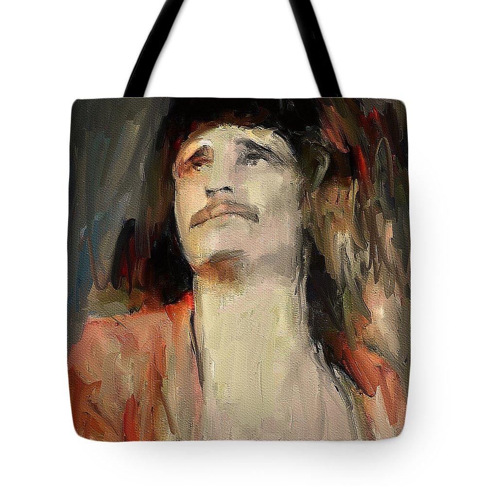 Uriah Tote Bag featuring the digital art Uriah Heep Portrait by Yury Malkov