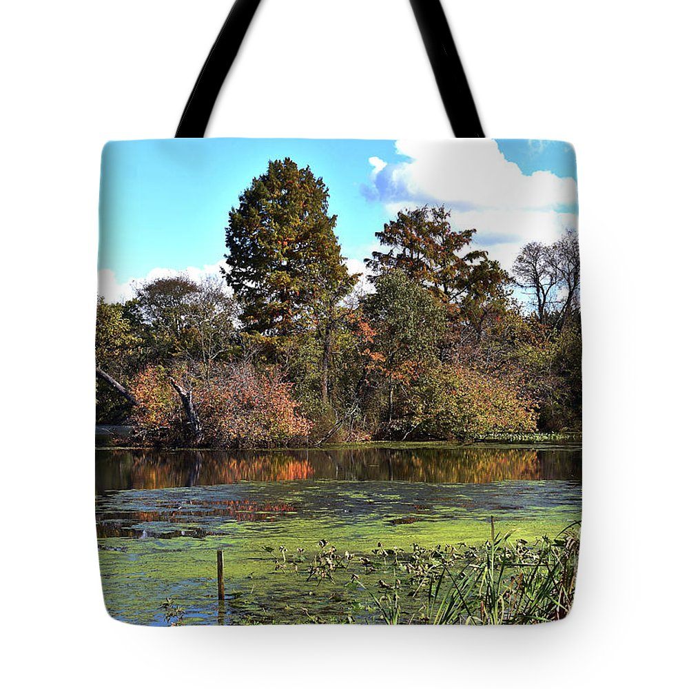 Animals Tote Bag featuring the photograph Urieville Pond by Skip Willits
