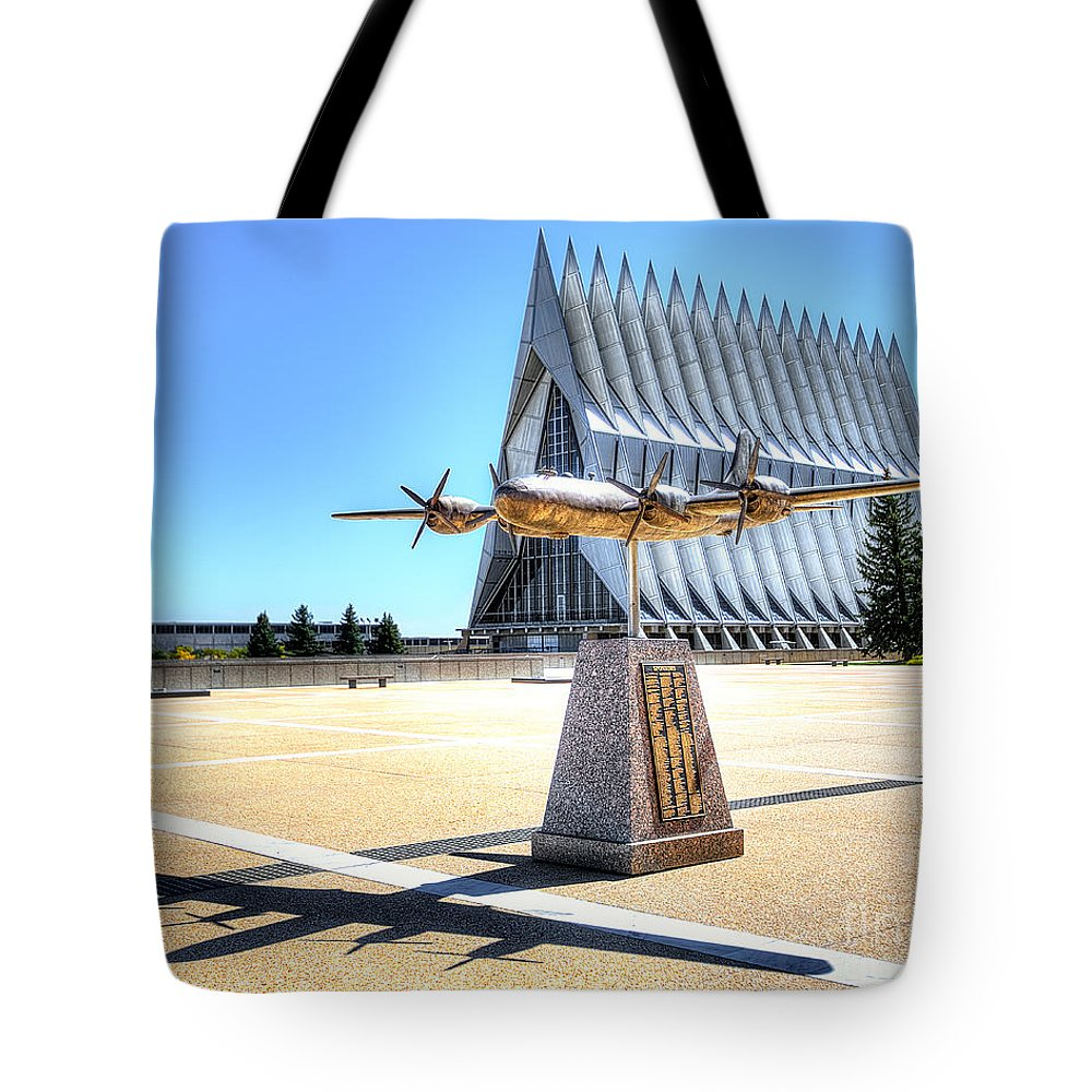 Air Force Tote Bag featuring the photograph Us Air Force Academy Chapel by Jerry Fornarotto