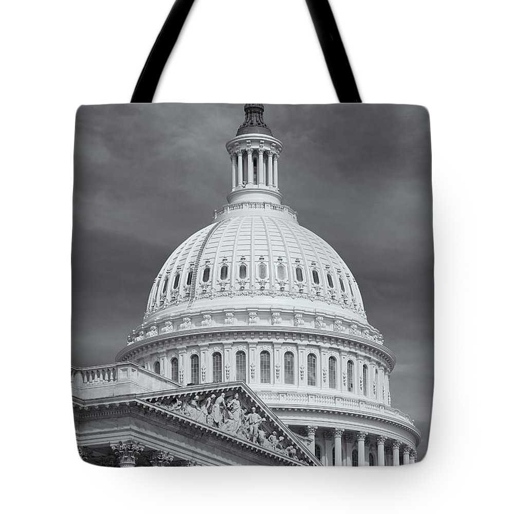 Clarence Holmes Tote Bag featuring the photograph Us Capitol Building Iv by Clarence Holmes