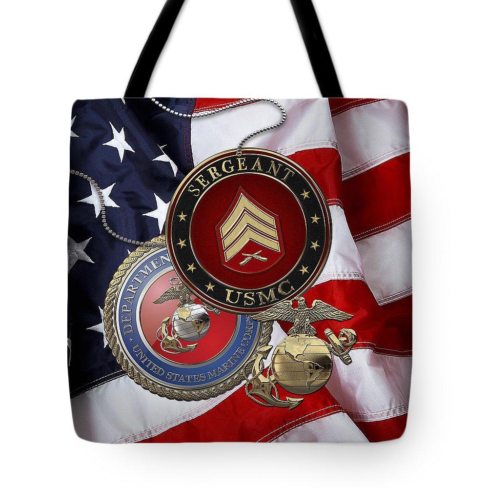 Usmc Rank Insignia Tote Bags