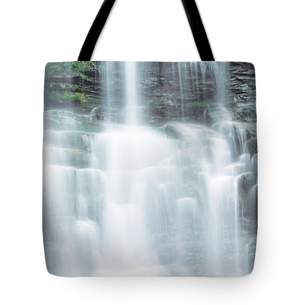 Photography Tote Bag featuring the photograph Usa, Pennsylvania, Ganoga Falls by Panoramic Images
