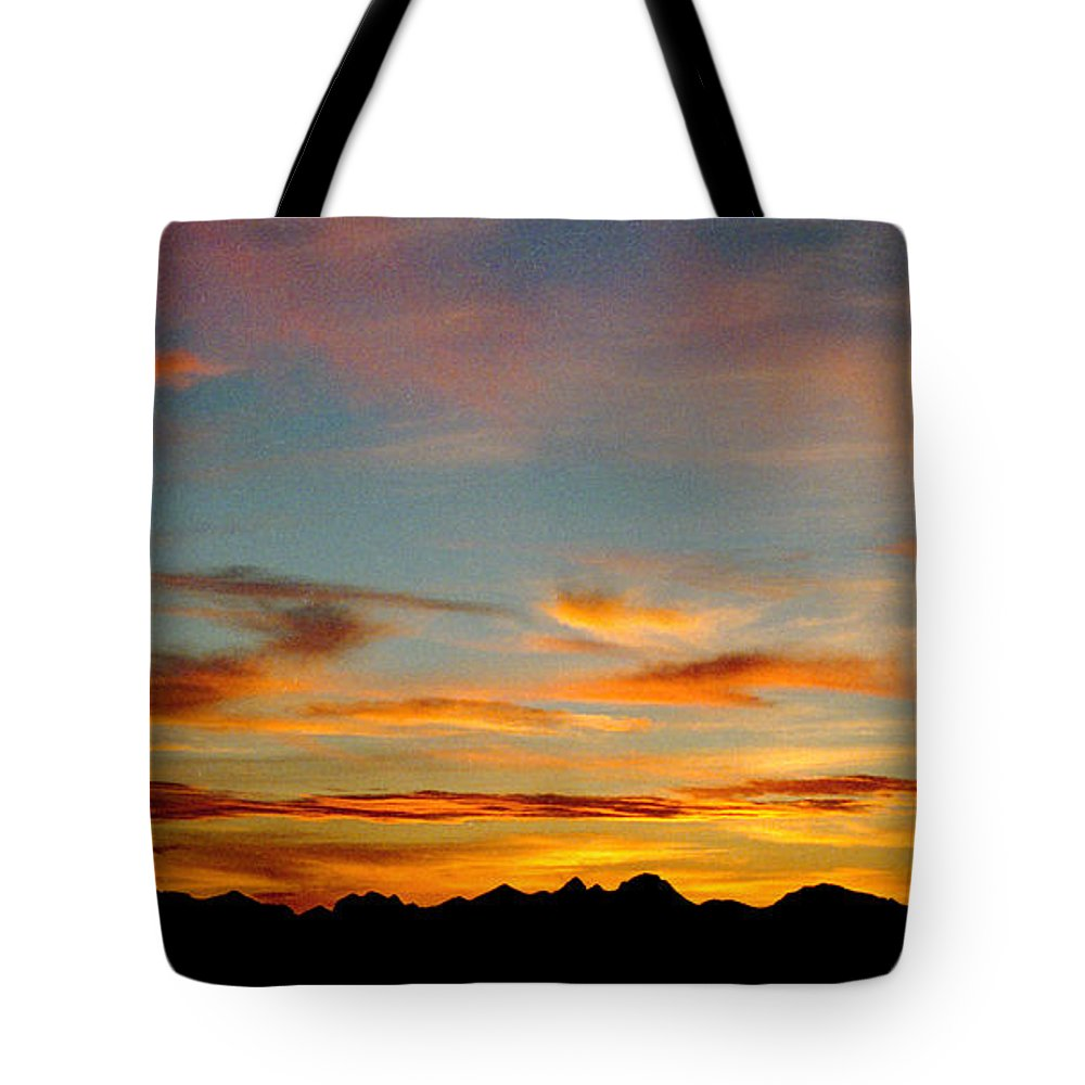 Arizona Sunset Tote Bag featuring the photograph Usery Sunset by Randy Oberg