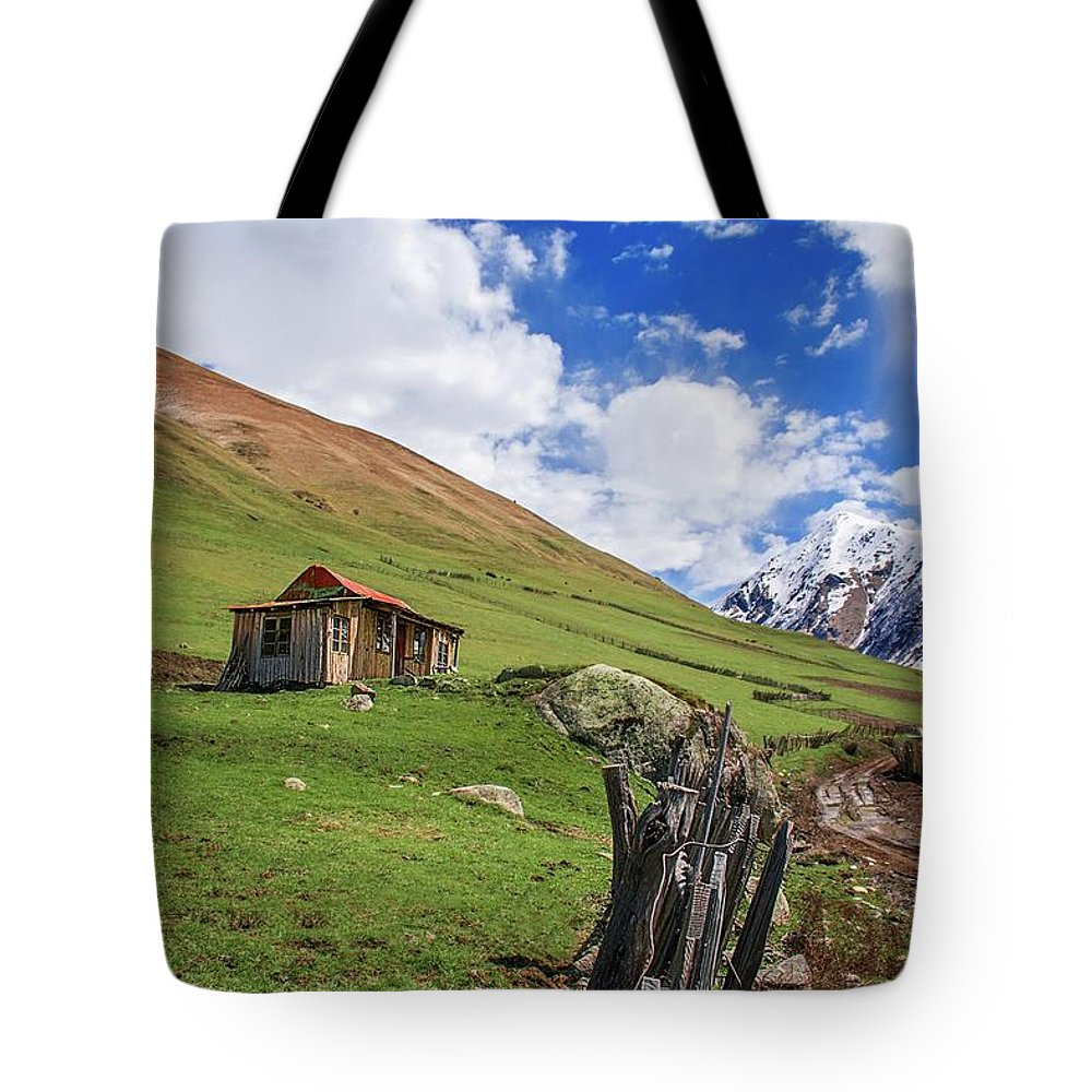 Landscape Tote Bag featuring the photograph Ushuguli by Sikander Azam